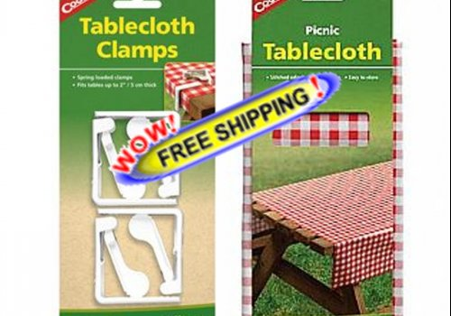 Tablecloth & Clamps Set by Coghlan's - Free Shipping